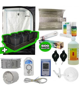 Pack basic tente eclairage systeme hydro pack complet chambre - Pack complet chambre de culture ...
