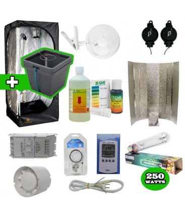 Pack basic tente eclairage systeme hydro pack complet - Kit chambre de culture complet ...