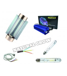 PACK COMPLET 250 WATTS MH ET HPS REFLECTEUR COOLTUBE