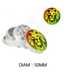 GRINDER ALU RASTA LION 50 mm