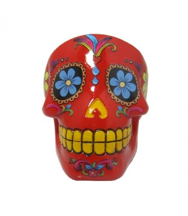 CENDRIER MEXICAN SKULL ROUGE